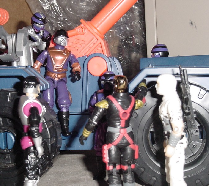 1994 Star Brigade Techno Viper, 1987 Techno Viper, 1994 Star Brigade Cobra Commander, 1994 Detonator, 2005 Convention Iron Grenadier Destro, 1997 Stormshadow, 1994 Metal Head