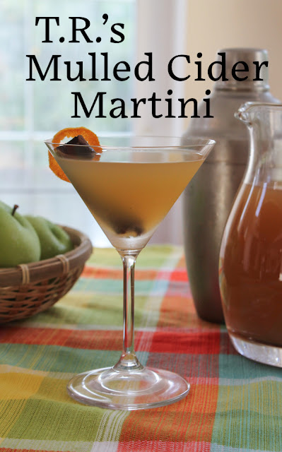 Food Lust People Love: Celebrate fall with a spicy seasonal mulled cider martini. Like all good martinis, it's made 007-style, shaken not stirred.
