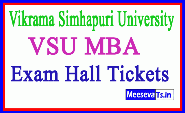 Vikrama Simhapuri University VSU MBA Exam Hall Tickets