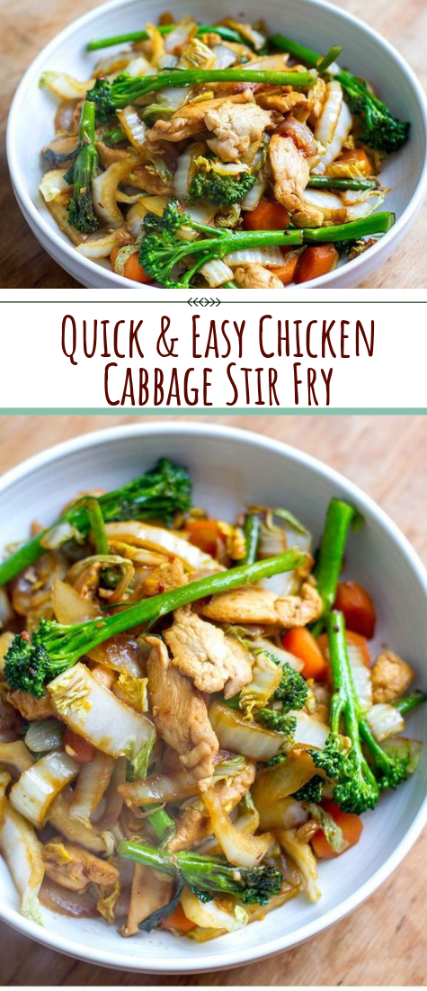 Quick & Easy Chicken Cabbage Stir Fry #healthyFood #vegan