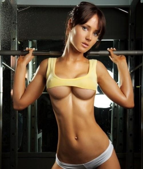 Hot gym girls working out nude