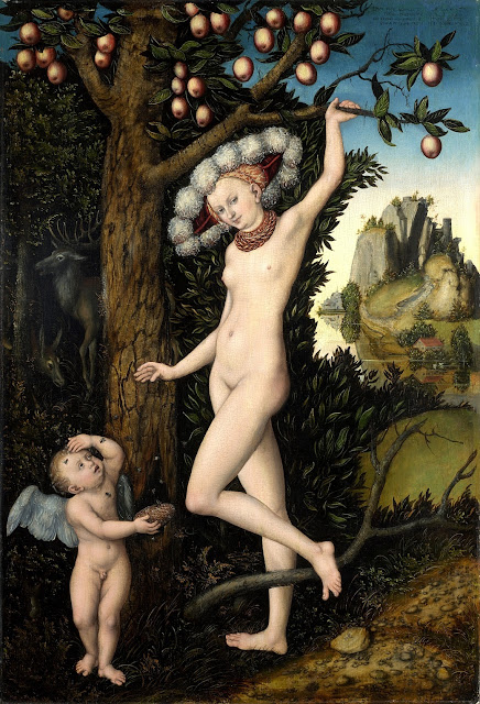 Lucas Cranach Il Vecchio: Cupido si lamenta con Venere