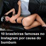 10 brasileiras famosas no Instagram por causa do bumbum