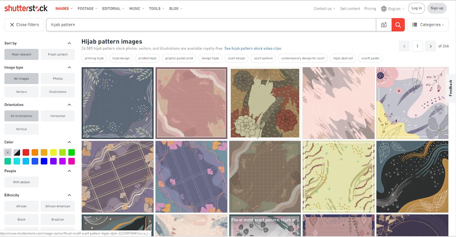 Mudahnya Download Desain Scarf Hijab di Shutterstock - My Life on