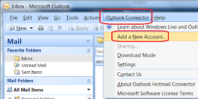 Configure Hotmail Account on Microsoft Outlook 2007