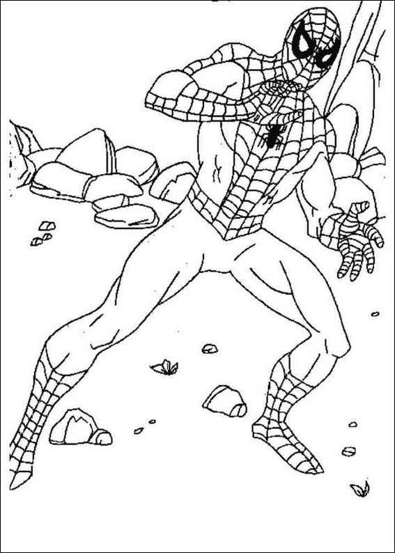 Desenho Do Homem Aranha Para Colorir Online