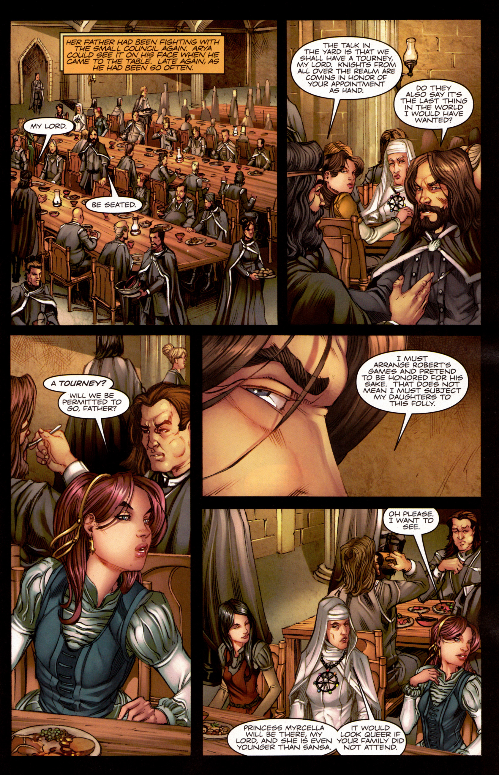 Read online A Game Of Thrones comic -  Issue #7 - 12