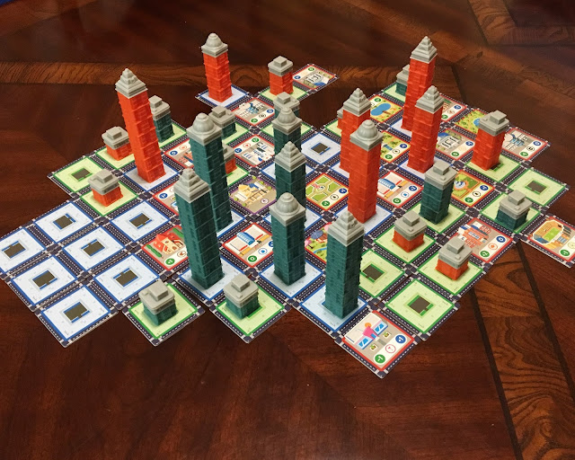 A completed city in Expancity by Breaking Games, with plenty of vacant lots, photo by Benjamin Kocher