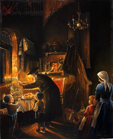 Festa de Chanucá - Pintura de Alex Livin