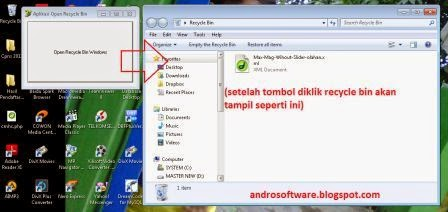 gambar aplikasi pembuka recycle bin windows 7