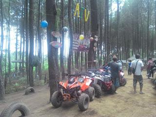 Motor ATV di Hutan Pinus Precet