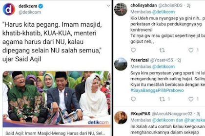 Said Aqil: Imam Masjid, Menag, Khatib, KUA Harus dari NU, Selain NU Salah Semua