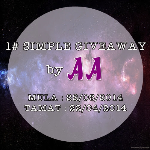 1# SIMPLE GIVEAWAY by AA