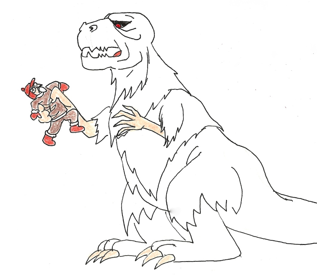Bigfoot Coloring Pages Sketch Coloring Page