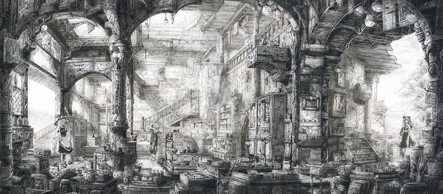 07-Loaded-Interior-Mita-Mitauzo-実-田-く-ら-Intricate-Japanese-Architectural-Drawings-www-designstack-co