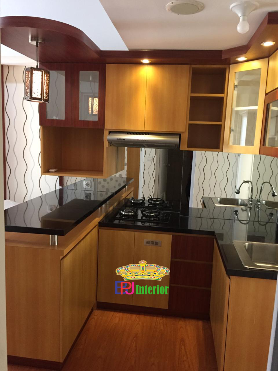 Design Kitchen Set Apartemen Leter U