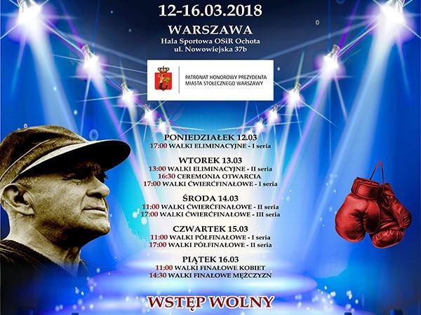 XXXV Międzynarodowy Turniej Bokserski im. Feliksa Stamma, Warszawa 2018!