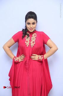Actress Poorna Latest Stills in Red Dress at Rakshasi First Look Launch  0116.JPG