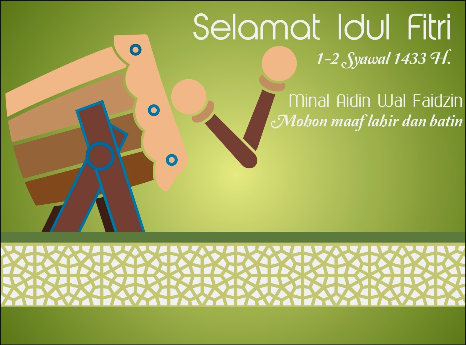 Gambar Kartu Ucapan Lebaran Idul Fitri 1435 H / 2014 ...