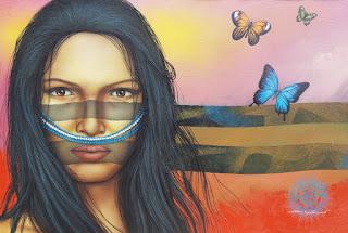 arte-indígena-retratos-coloridos-con-mujeres mujeres-indigenas-rostros