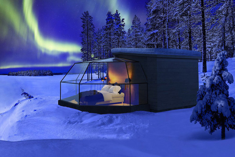 Tourists Can See The Northern Lights While Spending The Night In Luxury Glass Igloos