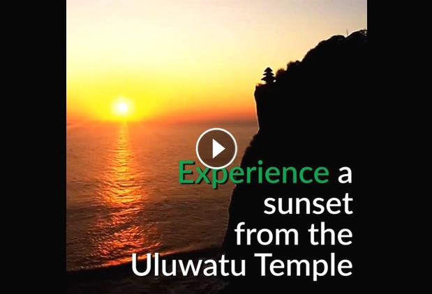 Experience a Beautiful Sunset from The Uluwatu Temple