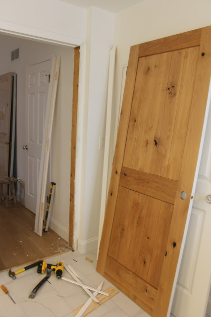 image result for knotty alder door installation