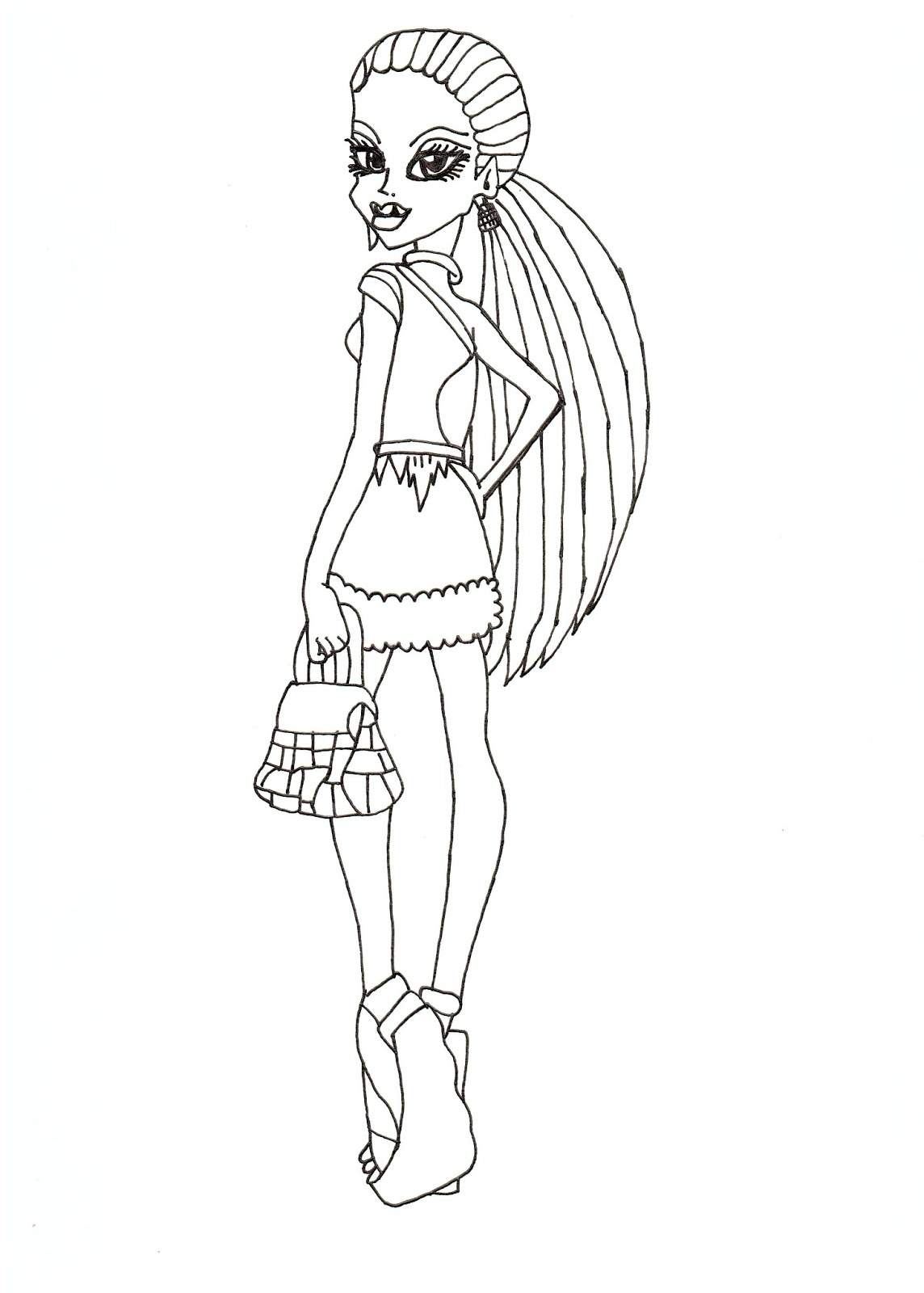 Abbey Scaris Free Coloring Sheet CLICK HERE TO PRINT Printable Monster High