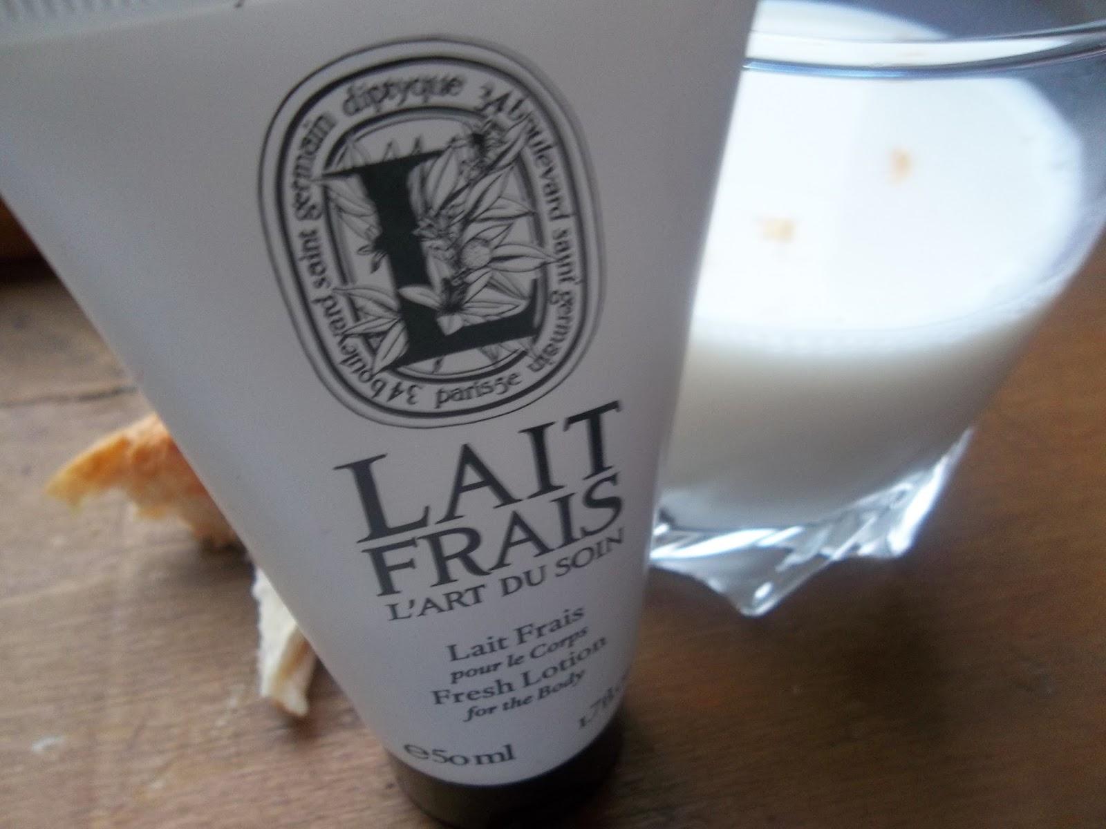 lait frais pour le corps