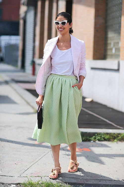 street style with candy colors and retro inspiration
