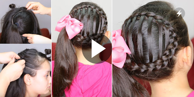Learn, How To Make Simple And Quick Accented Side Ponytail Hairstyle
