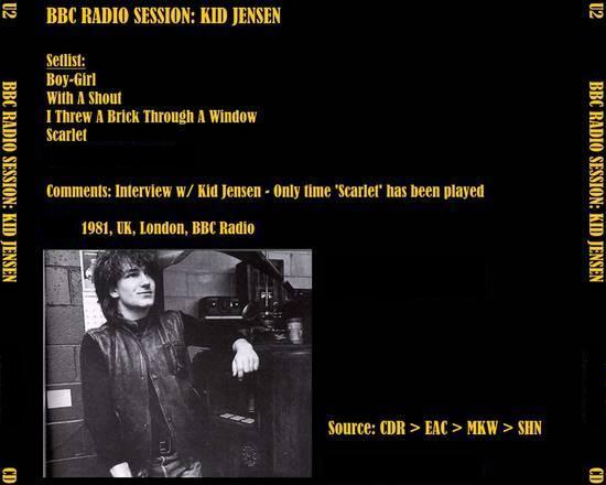 U2 [1981 09 03] Kid Jensen - BBC Radio Session [FM@SHN] - Guitars101