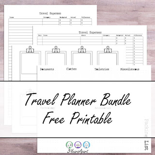 3 Years Apart Travel Planner Bundle Free Printable