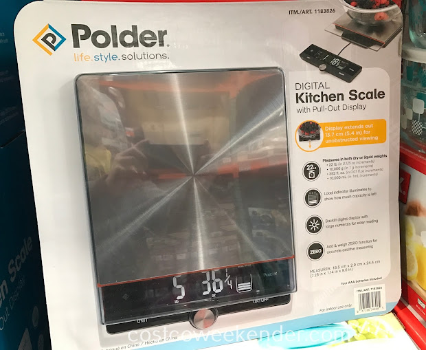 Polder Digital Kitchen Scale With Pull Display Costco Weekender