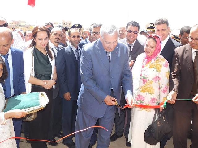 """عامل عمالة مكناس،السيد عبد الغني الصبار يدشن ثانوية تأهيلية جديدة تحمل اسم """"ثانوية الكندي"""" بجماعة ويسلان"""