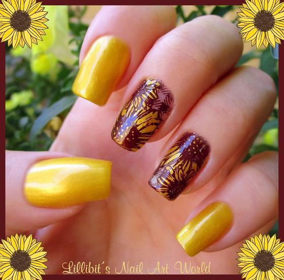Lillibits Nail Art World Girasoles Con Ingeniosa De Masglo