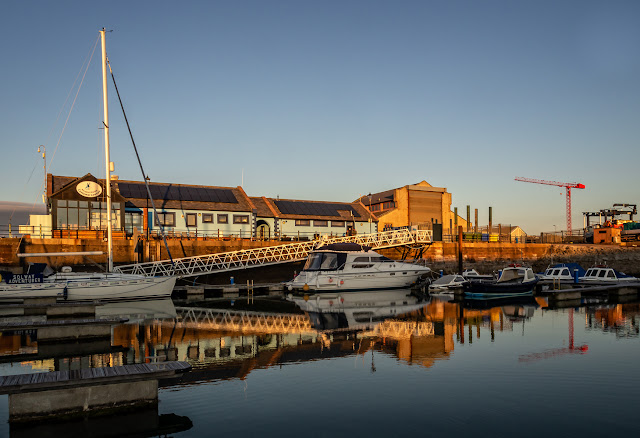 Photo of the marina building in Maryport