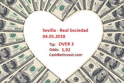 Sevilla - Real Sociedad 04.05.2018 - Cash Bet Invest