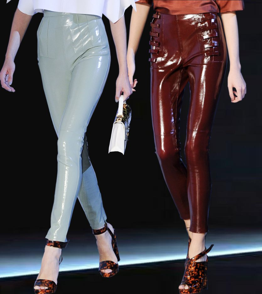 We sell a huge selection of shiny leather leder cuero wetlook pleather trousers, pants, hosen and leggings featuring exclusive designs. Shinyslops Online Store shiny slops online store Your look is .