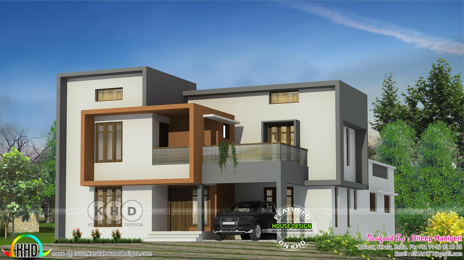 ground floor area 1556 sqft first floor area 1147 sqft total area 2703 sqft no of bedrooms 4 design style modern flat roof - First Floor Home Design Hd