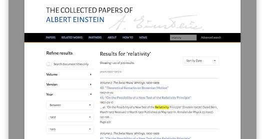 What Einstein Taught Us About Searching Inside Publications