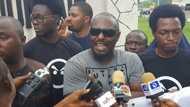 [PHOTOS] Jim Iyke joins Charly Boy, Others at Anti-Buhari Resume Or Resign Protest