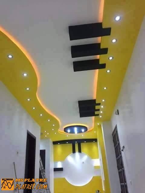 Couloir en plâtre moderne