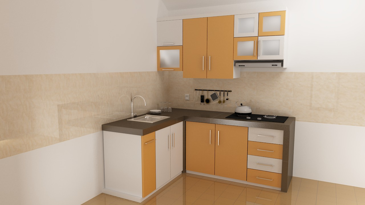 Rumah design interior kitchen set minimalis for Kitchen minimalis