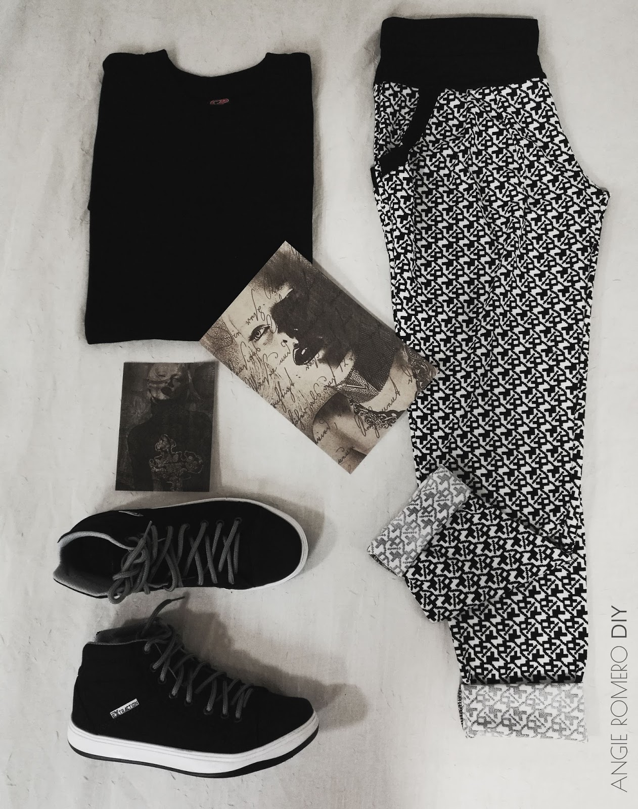 Black and White haul para outfits rockeros y alternativos