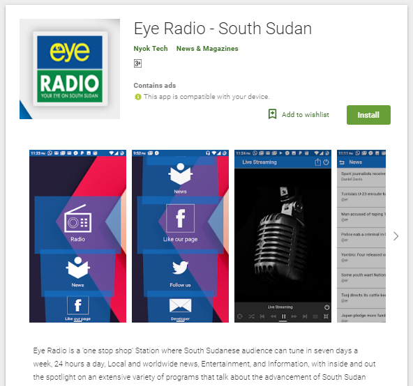 Eye Radio - South Sudanese News App