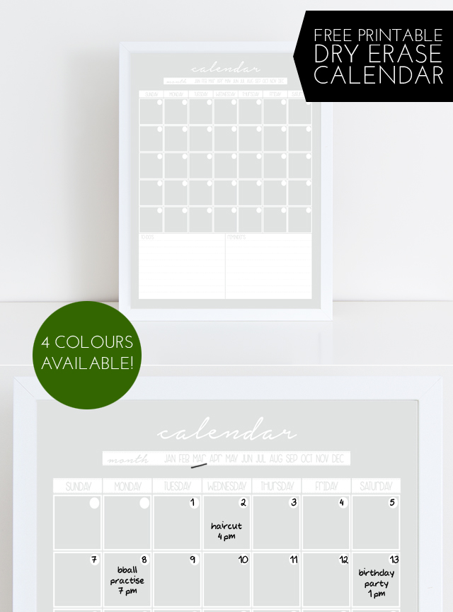 graphic about Free Printable Perpetual Calendar referred to as sarah m design and style: freebies: dry erase perpetual calendar free of charge