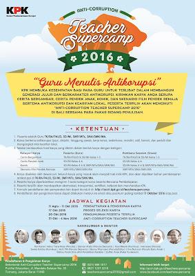 """KPK mengadakan pelatihan """"Anti-Corruption Teacher Supercamp 2016: Guru Menulis Antikorupsi"""" di Bali"""