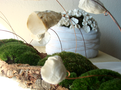 Eco wedding paper flowers centerpiece
