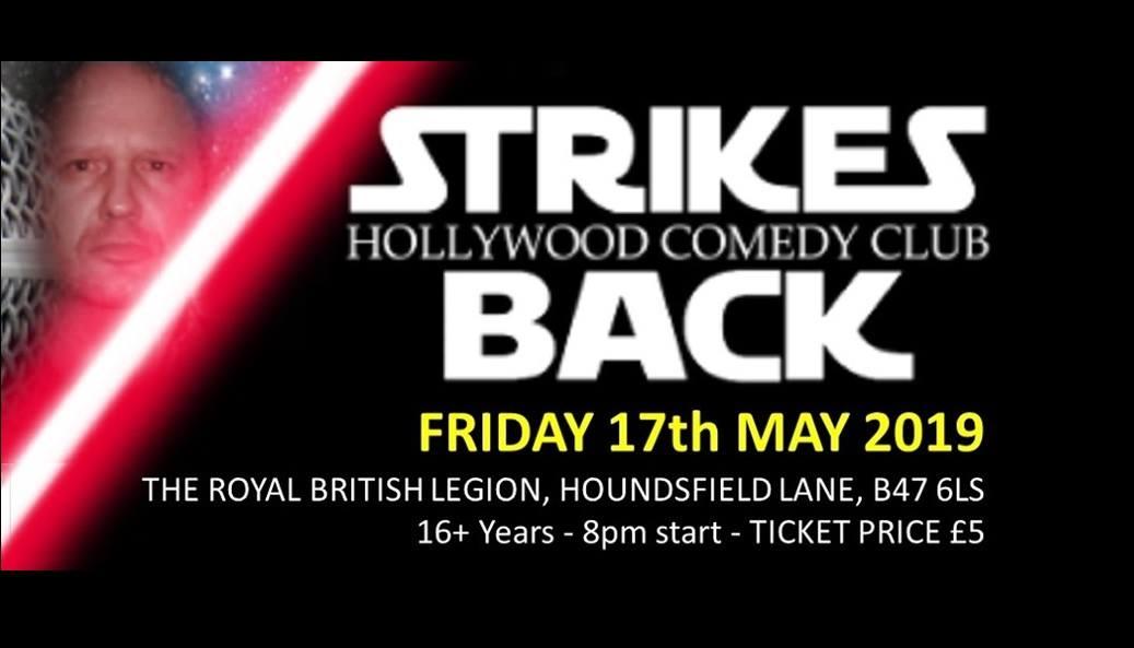 Hollywood Comedy Club strikes back flyer